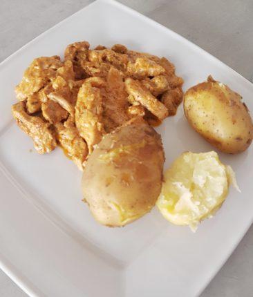 Kurczak z bobem